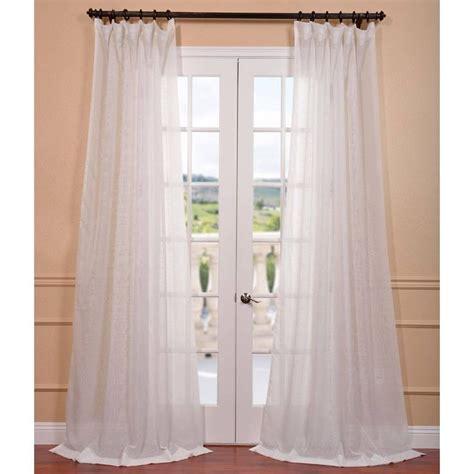 signature white layer sheer curtain panel