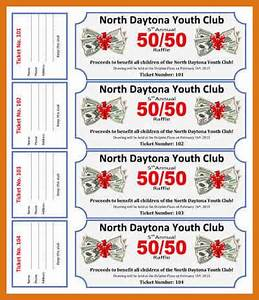 raffle ticket template free letter format business With 50 50 raffle tickets template