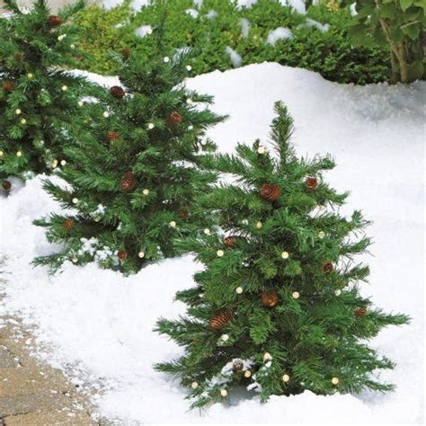 cordless led pre lit walkway tree christmas trees