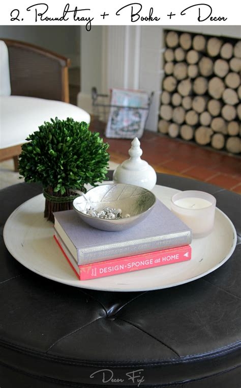 how to style a coffee table decor fix