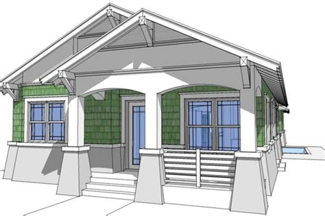 Bungalow Style House Plan 3 Beds 2 Baths 1474 Sq/Ft Plan