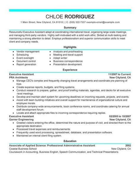 Executive Administrative Assistant Resume by Executive Administrative Assistant Resume Sle