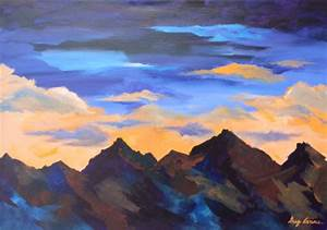 Image Gallery mountain sunset paintings