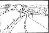 Coloring Landscape Pages Road Scenery Landscapes Simple Printable Easy Drawing Print Drawings Line Freecoloringpagefun Only Colouring Without Sheets Adult Landscaping sketch template
