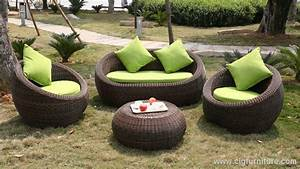 Rattan Lounge Rund : outdoor round quality rattan wicker sofa lounge set comfort outdoor ~ Indierocktalk.com Haus und Dekorationen