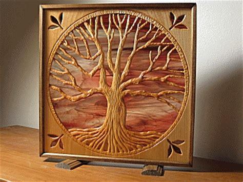 follow oak tree carving step  heartwood art