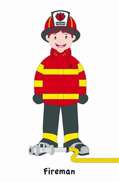Fireman Clipart Firefighter Community Helper Bombero Firemen