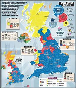 General election results saw England turned blue, Scotland ...