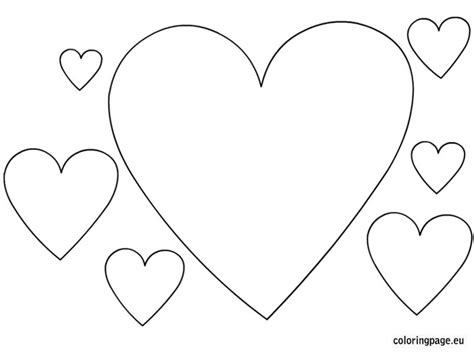 Heart Pattern Coloring Pages Shape
