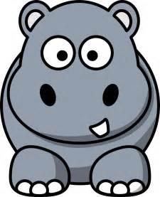 Hippo Clip Hippo Clipart Black And White Clipart Panda Free