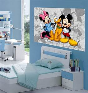 mickey minnie decoration murale maxi poster papier With affiche chambre bébé avec tapis lotus