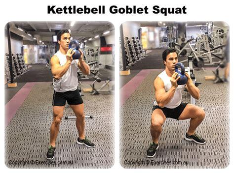 squat goblet kettlebell