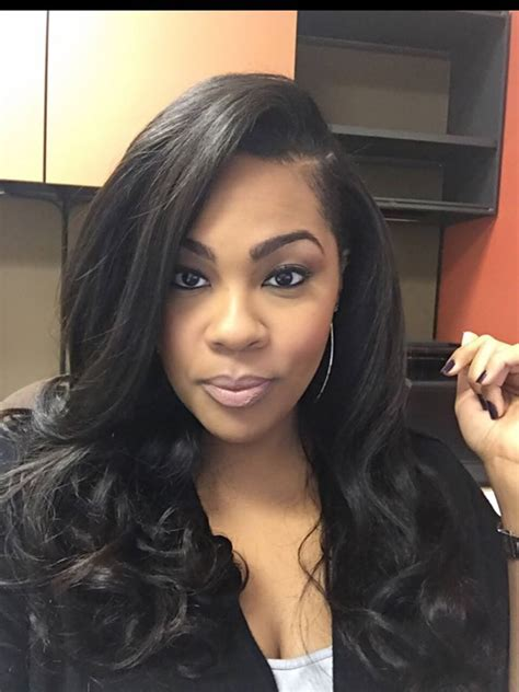 Wave Sew In Hairstyles by Sew In Minimal Leave Out Heavy Hair Styled By