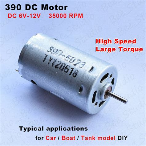 Strong Electric Motor by Dc 6v 7 2v 12v High Speed Strong Magnetic 390 Electric