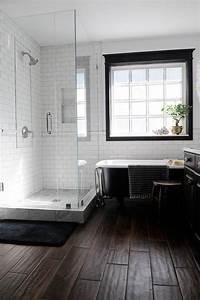 Carrelage Salle De Bain Bricomarché : carrelage salle de bain noir et blanc duo intemporel tr s classe id es d c oh salle de ~ Melissatoandfro.com Idées de Décoration