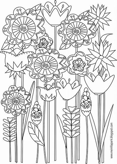 Coloring Pages Flower Printable Flowers Adult Sheets