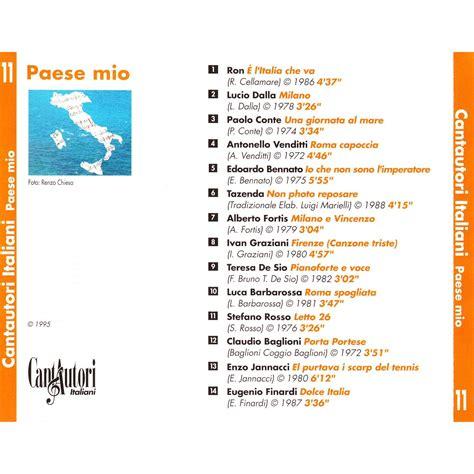Cantautori Italiani (cd11)  Mp3 Buy, Full Tracklist