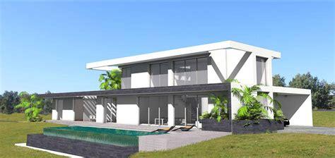 maison contemporaine sur terrain en pente avec piscine 224 d 233 bordement atelier sc 233 nario