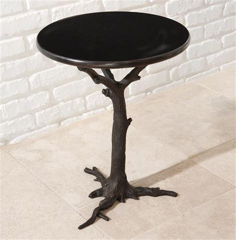 tree branch table l bijou global bazaar black tree branch iron marble round