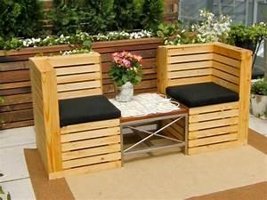 50 idees originales pour fabriquer votre salon de jardin With idee pour jardin exterieur 3 les palettes reinventent le mobilier de jardin