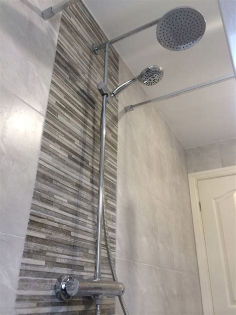 Bathroom Wall Tile Installation by Walk In Shower With Thermostatic Mixer With Bathroom