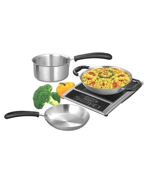 induction cookware ideal pcs snapdeal rs cheap deal