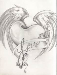 The gallery for --> Cool Hearts With Wings Drawings