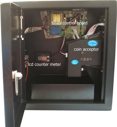 coin operated timer power supply box to