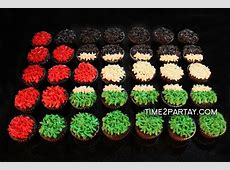 Time2Partaycom Argentina and Palestine Flag Cupcakes #