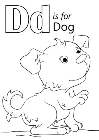 letter    dog coloring page  printable