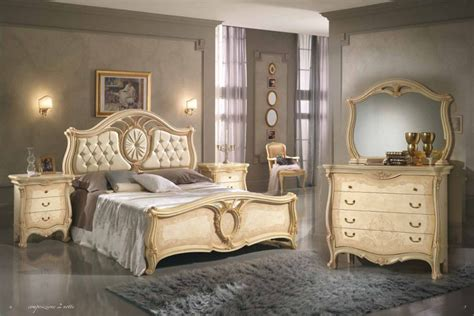 Design Schlafzimmer Sovrana Italien Beige Qualität Bett
