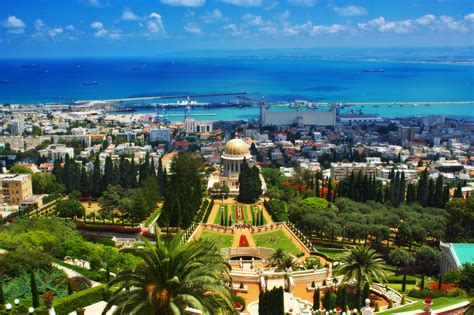 haifa bahai israel gardens things isreal