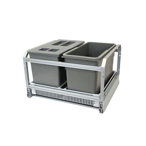 poubelle de placard cuisine poubelle cuisine coulissante 3 bacs 45l gris