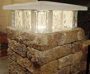 Menards Post Lights Brainstorm Fodder Glass Block As A Tier Of A Middle Tier