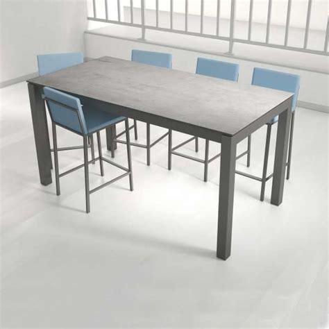 table cuisine ceramique table snack rectangulaire en céramique et métal coma bar 4 pieds tables chaises et tabourets