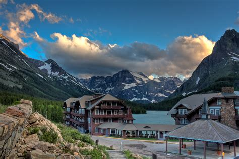 swiss chalet style  glacier hotel swiftcurrent