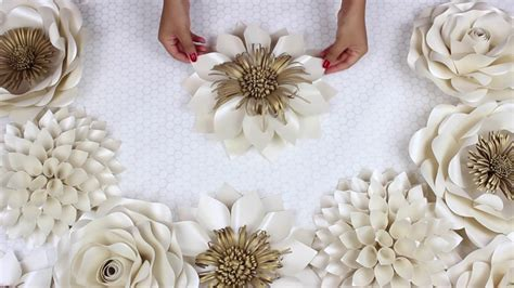 diy paper flower tutorial  wedding backdrop flowers