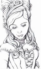 Coloring Coloriage Adulte Personnage Antoinette Marie Adult Google Deviantart Colorier Imprimer Drawing Gratuit Personnages Gothique Prison Dessins Fairy Enregistree Depuis sketch template
