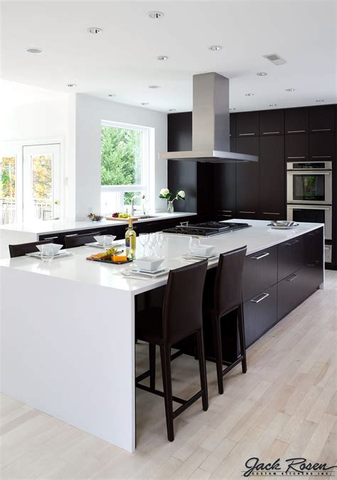 jack rosen custom kitchens black  white modern kitche