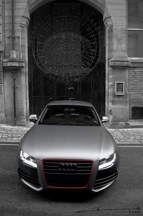 project kahn audi  coupe matte pearl grey unleashed