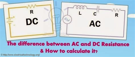 difference  ac  dc resistance