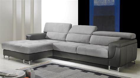 canapé en microfibre canapé d 39 angle gauche cuir microfibre gris pas cher