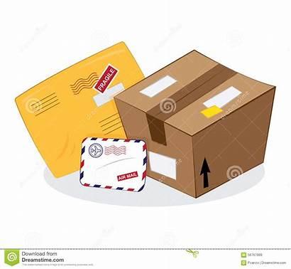 Envelope Package Cartoon Letter Postal Sending Services