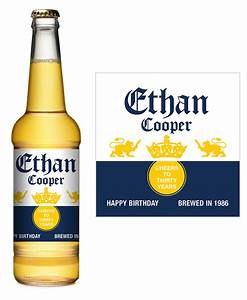 corona extra birthday beer label icustomlabel With corona beer label