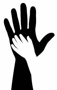 Baby hand silhouette — Stock Photo © Dr.Art #28438009