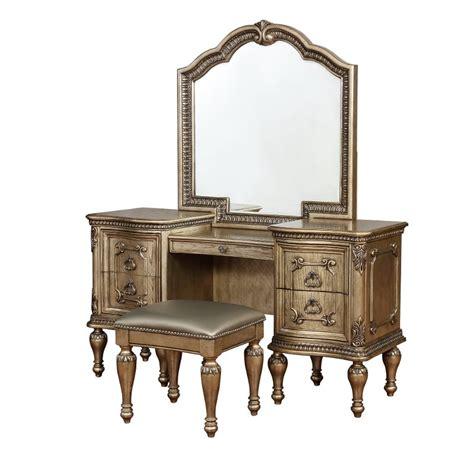 traditional platinum gold  piece vanity set seville