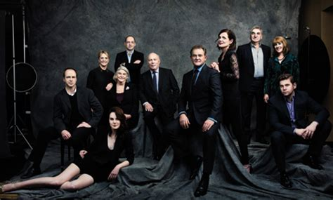 shot  downton abbey group portrait