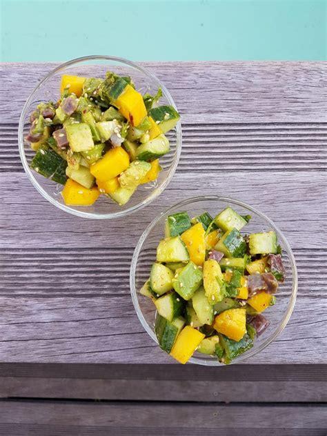 Entree Salade Magret De Canard by Salade Avocat Mangue Et Magret Fum 233 Ma P Tite Cuisine