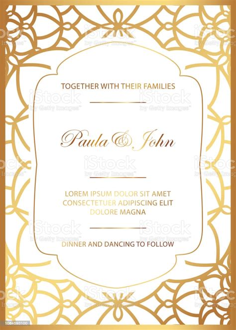 Stylish Gold And White Wedding Card Royal Vintage Wedding