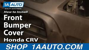 How To Install Replace Front Bumper Cover Honda Cr